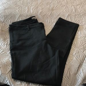 Vince Skinny black ponte pants